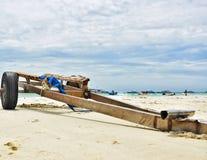 Рикша и море стоковые фото