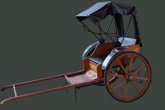 Рикша на серой предпосылке стоковое изображение rf