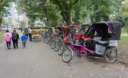 Рикша Central Park Pedicabs Стоковая Фотография