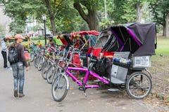 Рикша Central Park Pedicabs Стоковые Изображения RF