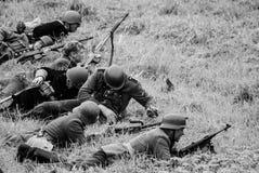 Римейк сражения черно-белый Стоковая Фотография RF
