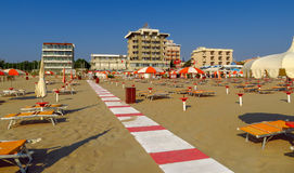 Римини - тропа на пляже стоковое изображение rf