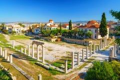 Римская агора в Афинах, Греции стоковое фото