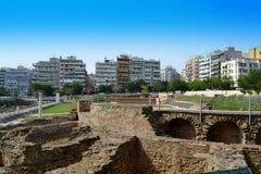 Римская агора Thessaloniki Греция Стоковое Изображение RF