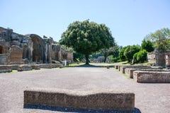 Римская археология на вилле adriana Стоковые Изображения