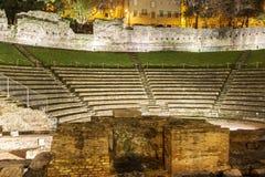Римская ноча руин Стоковое Изображение RF