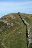 римская стена прогулки Стоковая Фотография