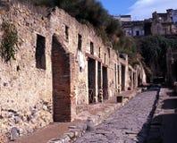 Римская улица, Herculaneum, Италия. стоковое фото rf