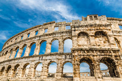 Римские Арен-пулы пул амфитеатра, Istria, Хорватия Стоковые Изображения RF