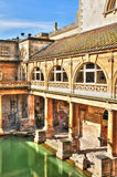 Римские бани, ванна, Великобритания Стоковая Фотография RF