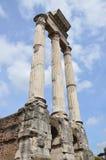 Римские колонки форума Стоковые Фотографии RF