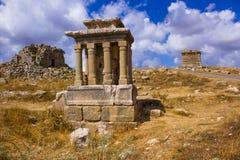 Римские руины на Faqra, Ливане, Ближний Востоке Стоковое Изображение RF