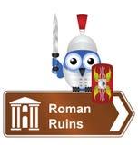 Римские руины иллюстрация вектора