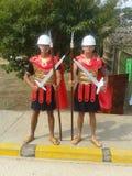 Римские солдаты на предохранителе стоковые фотографии rf