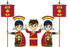 Римские солдаты и император Стоковая Фотография RF