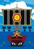 Римские солдаты центуриона на военном корабле Стоковые Фотографии RF