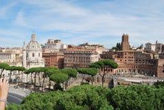Римские форум и palatino в Риме в Лацие в Италии Стоковые Изображения
