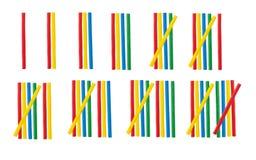 Римские цифры установили сделанный от математически деревянной ручки Стоковая Фотография RF