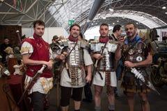 Римские legionaries на Militalia 2013 в милане, Италии Стоковые Фото