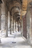Римский амфитеатр в городе Nimes, Франции Стоковые Фото