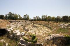 Римский амфитеатр в Syracuse стоковое фото