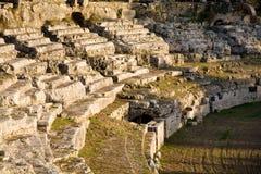 Римский амфитеатр, Сиракуз, Италия Стоковая Фотография