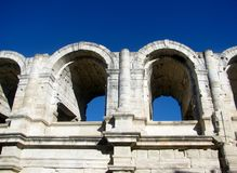 Римский амфитеатр, Arles, Франция стоковые фотографии rf