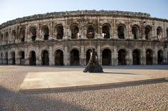 Римский амфитеатр, Nimes, Франция Стоковое Изображение RF