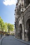Римский амфитеатр Nimes Стоковая Фотография RF