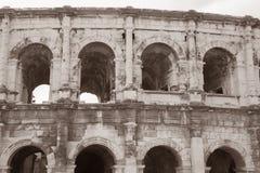 Римский амфитеатр, Nimes Стоковые Изображения RF