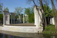 Римский воодушевленный театр дворца Lazienki в Варшаве, Польше Стоковое фото RF