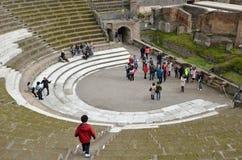 Римский восстановленный театр Стоковые Фото