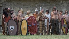 Римский галловый ратник Celtic войны видеоматериал