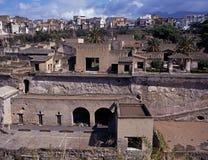 Римский городок, Herculaneum, Италия. стоковые изображения