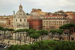 Римский городской пейзаж в лете Стоковые Фотографии RF
