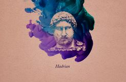 Римский император Hadrian иллюстрация вектора