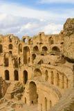Римский Колизей на El Djem Стоковые Фото