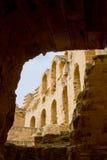 Римский Колизей на El Djem Стоковая Фотография