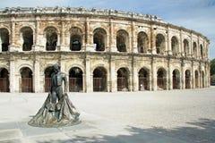 Римский Колизей - Nimes, франция стоковая фотография rf