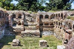 Римский колумбарий некрополя в старом Ostia Стоковые Изображения RF