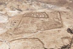 Римский лагерь b под крепостью Masada в Израиле стоковые фото