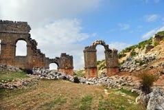 Римский мост-водовод в старом Olba, Турции Стоковое Изображение RF
