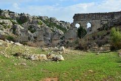 Римский мост-водовод в старом Olba, Турции Стоковая Фотография