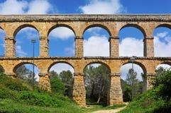 Римский Мост-водовод Pont del Diable в Tarragona Стоковая Фотография