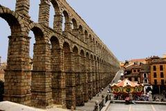 Римский мост-водовод Segovia, Испания Стоковая Фотография