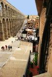 Римский мост-водовод Segovia, Испания Стоковая Фотография RF