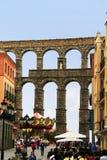 Римский мост-водовод Segovia, Испания Стоковые Изображения RF