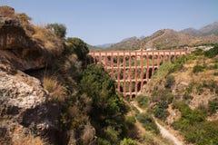 Римский мост-водовод около Nerja стоковая фотография rf