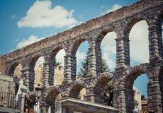 Римский мост-водовод (Сеговия) Стоковое Изображение RF