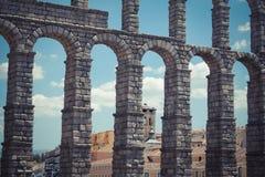 Римский мост-водовод (Сеговия) Стоковые Фотографии RF